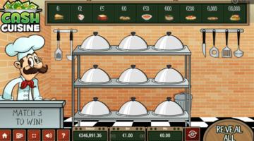 Cash Cuisine scratch game