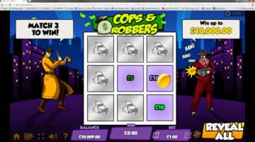 Cops & Robbers scratch card