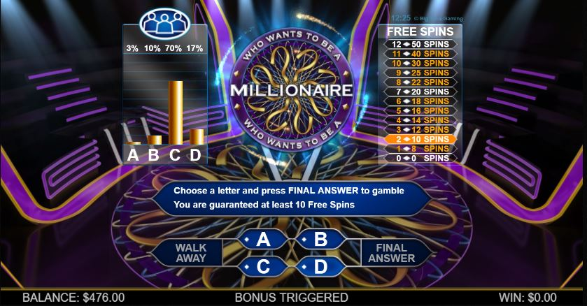 Who Wants To Be A Millionaire Bonus Round