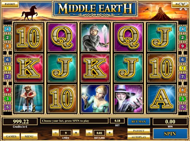 Middle Earth slot