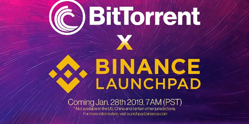 Binance-Launchpad-Bittorrent-token-sale