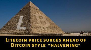 Litecoin-price-surges-ahead-of-bitcoin-style-halvening